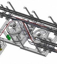 Cable conveyor mechanism designed Autodesk Inventor.