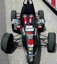 This Formula SAE racecar earned the Saginaw Valley State University team a sixth-place finish in the 2002 Formula SAE Competition at the Pontiac Silverdome in Pontiac, Michigan. (Photograph courtesy of Dr. Brooks Byam, Saginaw Valley State University Formula SAE team.)